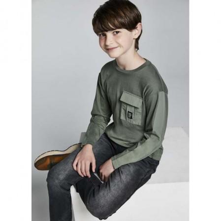 Детска блуза Mayoral с дълъг ръкав и джоб за момче