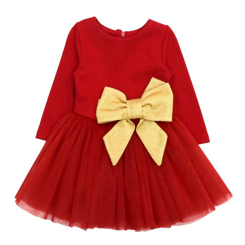 Бебешка рокля с голяма панделка Contrast
